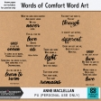 Words of Comfort Word Art Kit