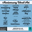 Anniversary Word Art Quotes Kit