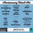 Anniversary Word Art Quotes Kit