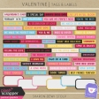 Valentine - Tags & Labels