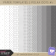Paper Templates - Polka Dots #1