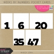 Weekly Pocket Cards Kit #1