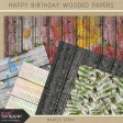 Happy Birthday Wooded Papers Kit