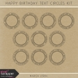 Happy Birthday Text Circles Kit