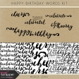Happy Birthday Word Art Kit