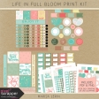 Life in Full Bloom Print Kit