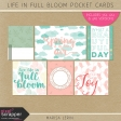 Life in Full Bloom Pocket Cards Kit