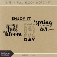 Life in Full Bloom Word Art Kit