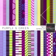 Purple & Green Papers Kit