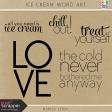 Ice Cream Word Art Kit