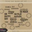 Picnic Day Word Art Kit