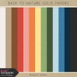 Back to Nature Solid Papers Kit