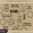 Summer Day Word Art Kit