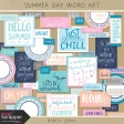 Summer Day Color Word Art Kit