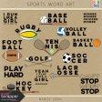 Sports Word Art Kit