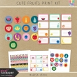 Cute Fruits Print Kit