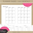 Planner Pages Kit - 2017 Calendar Pages