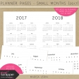 Planner Pages - 2017 All Year View