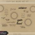 Cozy Day Word Art Kit