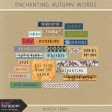 Enchanting Autumn Word Art Kit