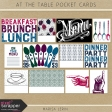 At the Table Pocket Cards Kit