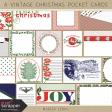 A Vintage Christmas Pocket Cards Kit