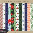 A Vintage Christmas Papers Kit #1