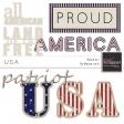USA Word Art Kit