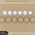 Winter Fun Text Circles Kit