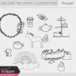 Unicorn Tea Party Illustrations Kit