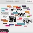 Kenya Word Art Kit