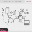 Digital Day Illustrations Kit