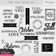 Free Spirit Word Art Kit