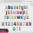 Build Your Basics Sticker Alpha Kit