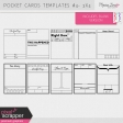 Pocket Card Templates Kit #4 - 3x4