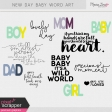 New Day Baby Word Art Kit