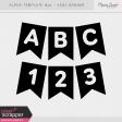 Alpha Template Kit #30 - Banner Sans Serif
