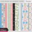 Love Knows No Borders Papers Kit