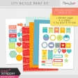 City Bicycle Print Kit