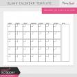 Blank Calendar Templates Kit