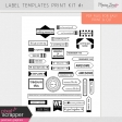 Label Templates Print Kit #1
