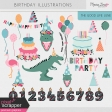 The Good Life: June Birthday Illustrations Kit