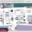 The Good Life: August Print Kit