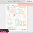 Cozy Kitchen Art Print Kit