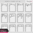 Month Stamps Kit #5