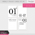 Weekly Pocket Cards Kit #3