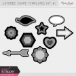 Layered Shape Templates Kit #1