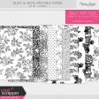 Black & White Printable Papers Kit #1 - Florals