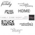 Family Game Night Word Art Kit