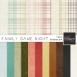 Family Game Night Solid Papers Kit